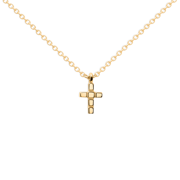 Make a Wish Cross Kette Jewelry luisa-lion 925 Silver Gold Plated S (45cm)