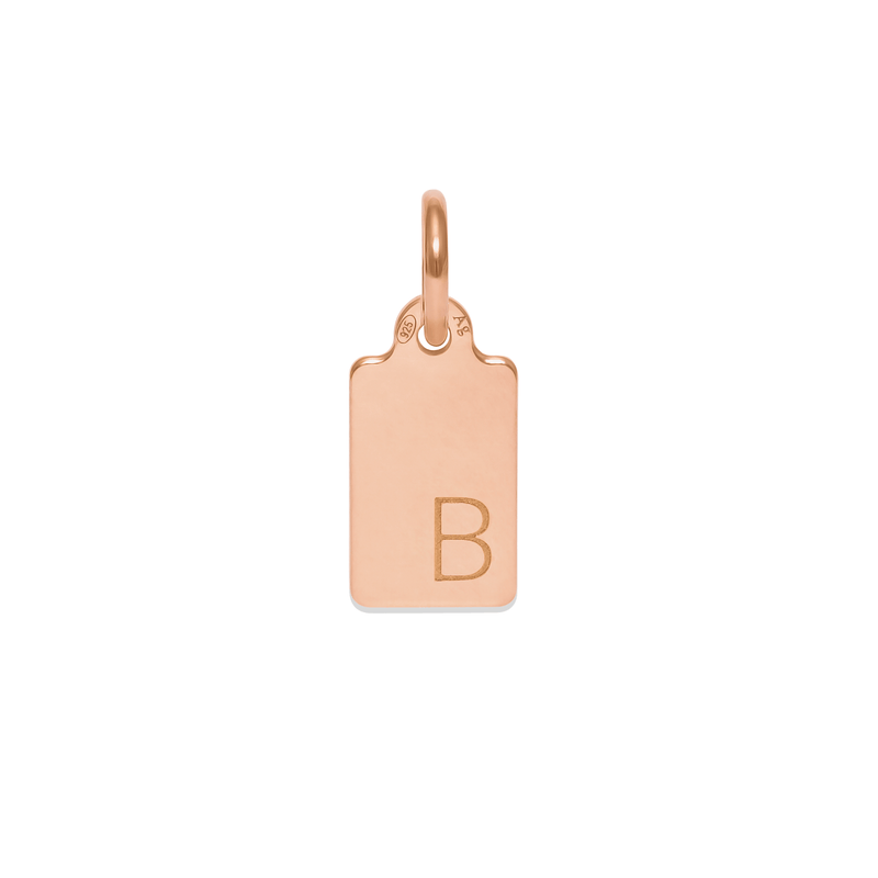 Make A Wish Letter B Tag Anhänger Jewelry luisa-lion 925 Silver Rose Gold Plated