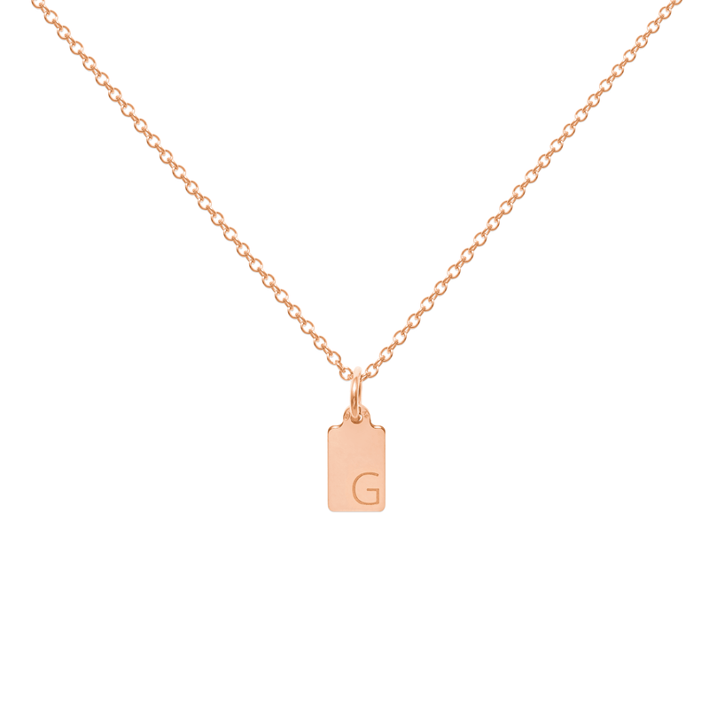 Make A Wish Letter G Tag Kette Jewelry luisa-lion 925 Silver Rose Gold Plated S (45cm)