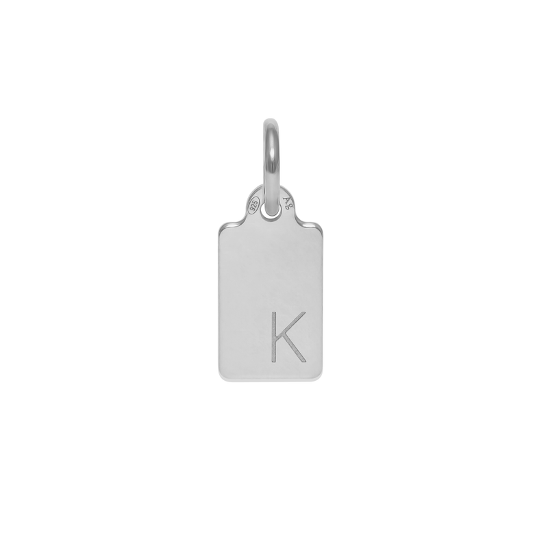 Make A Wish Letter K Tag Anhänger Jewelry luisa-lion 925 Silver