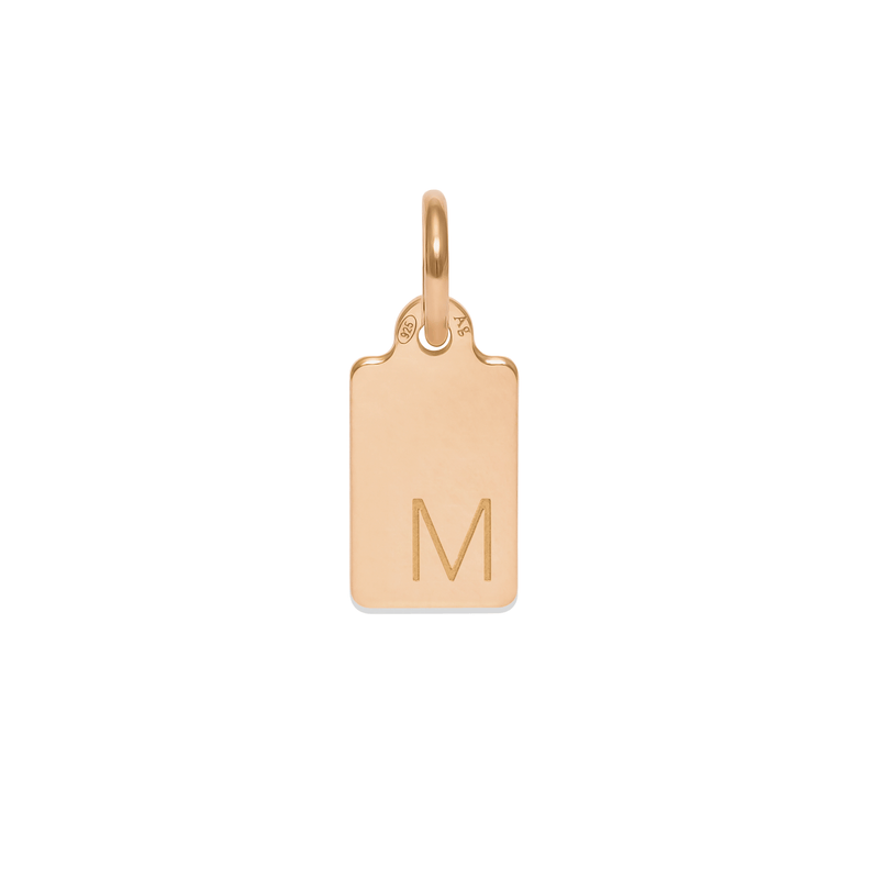 Make A Wish Letter M Tag Anhänger Jewelry luisa-lion 925 Silver Gold Plated