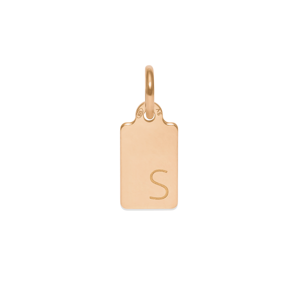 Make A Wish Letter S Tag Anhänger Jewelry luisa-lion 925 Silver Gold Plated