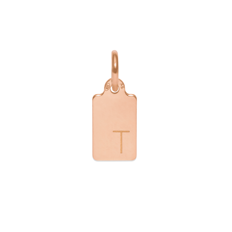 Make A Wish Letter T Tag Anhänger Jewelry luisa-lion 925 Silver Rose Gold Plated