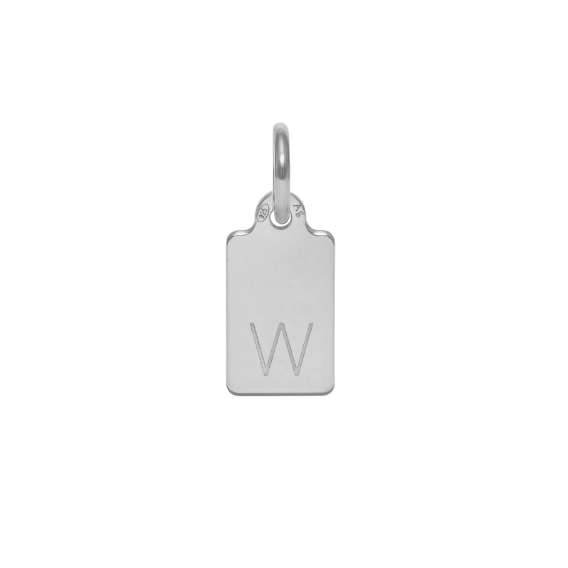 Make A Wish Letter W Tag Anhänger Jewelry luisa-lion 925 Silver