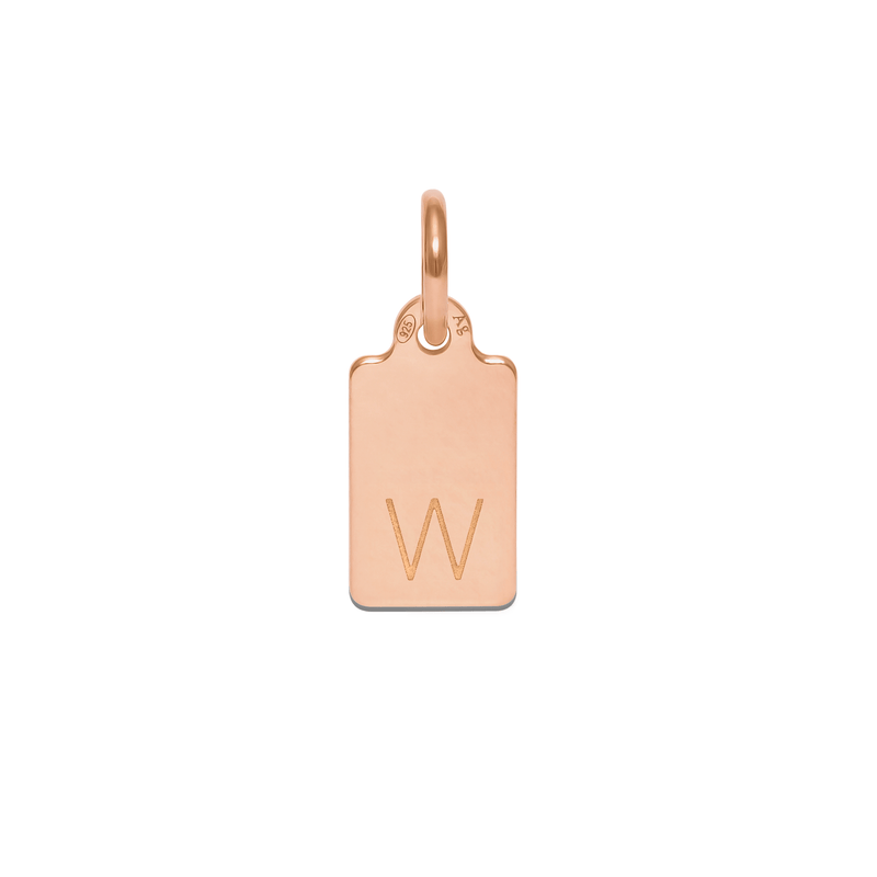 Make A Wish Letter W Tag Anhänger Jewelry luisa-lion 925 Silver Rose Gold Plated