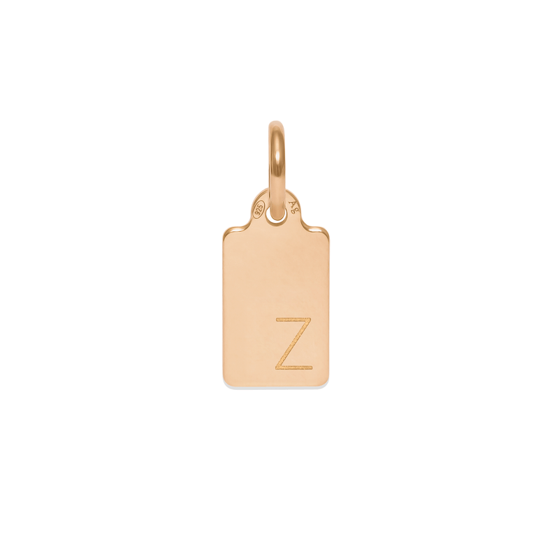 Make A Wish Letter Z Tag Anhänger Jewelry luisa-lion 925 Silver Gold Plated