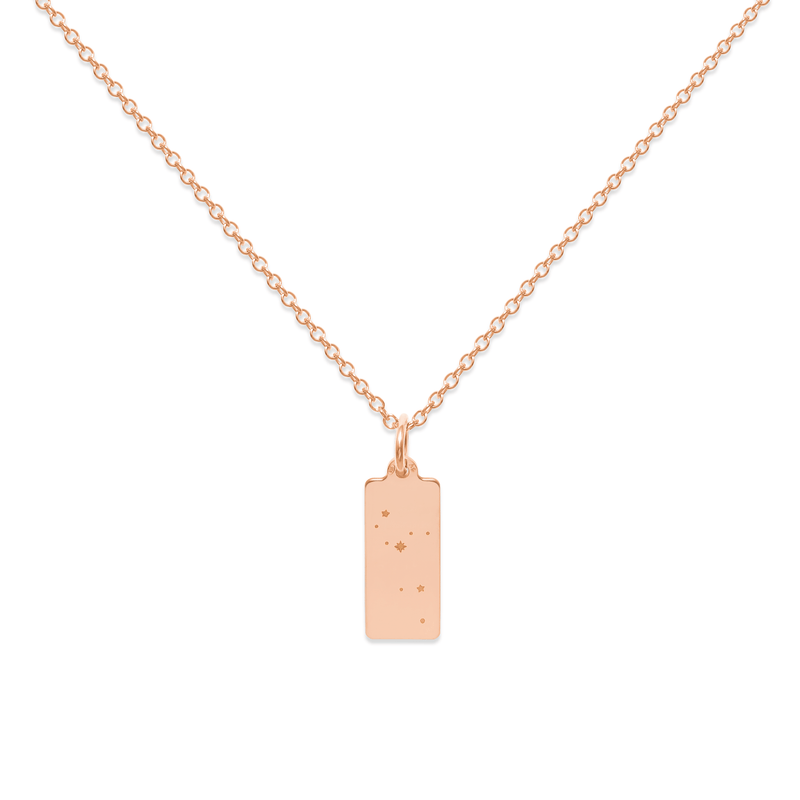 Make A Wish Löwe Constellation Tag Kette Jewelry luisa-lion 925 Silver Rose Gold Plated S (45cm)