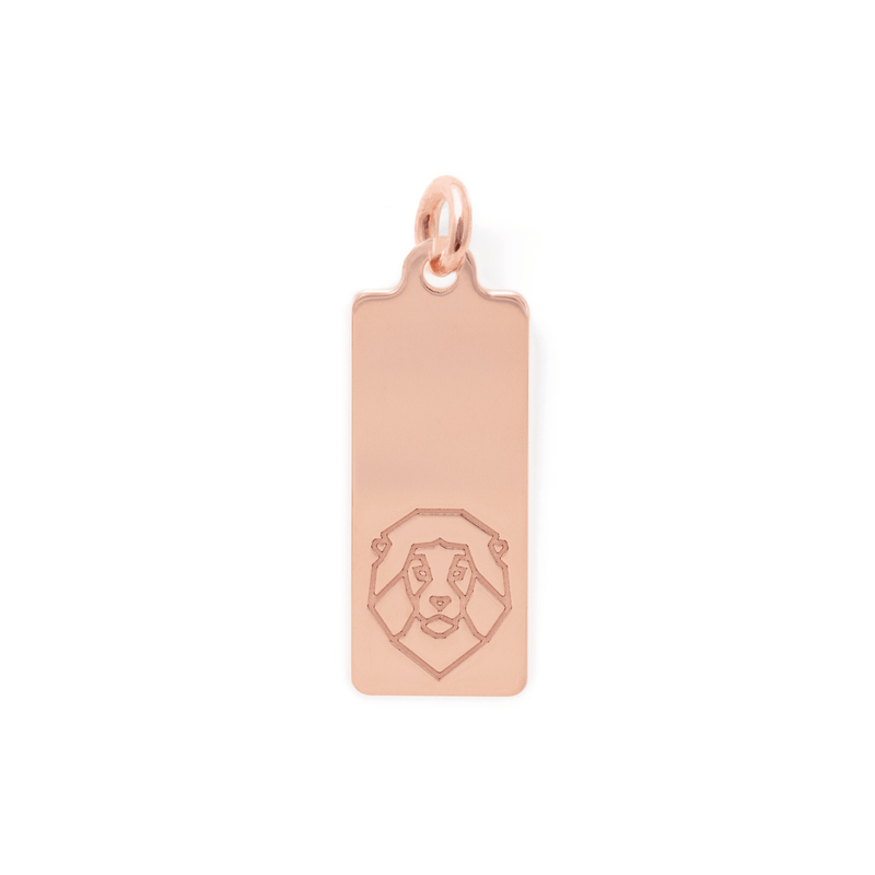 Make a Wish Löwe Tag Anhänger Jewelry luisa-lion 925 Silver Rose Gold Plated