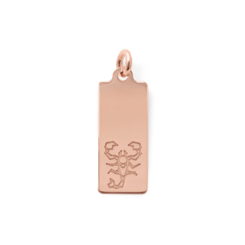 Make a Wish Skorpion Tag Anhänger Jewelry luisa-lion 925 Silver Rose Gold Plated