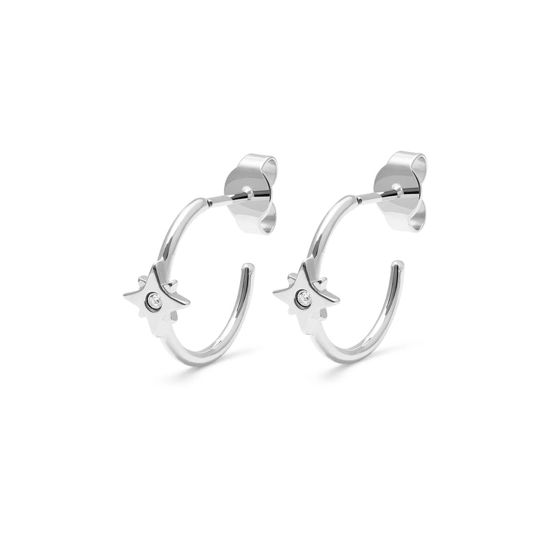 Make a Wish Starry Ear Hoops Jewelry luisa-lion 925 Silver