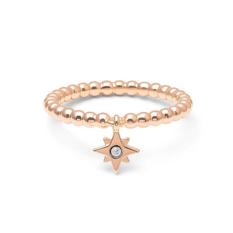 Make a Wish Starry Ring Nr.2 Jewelry luisa-lion 925 Silver Rose Gold Plated S - 52 (16.6mm)