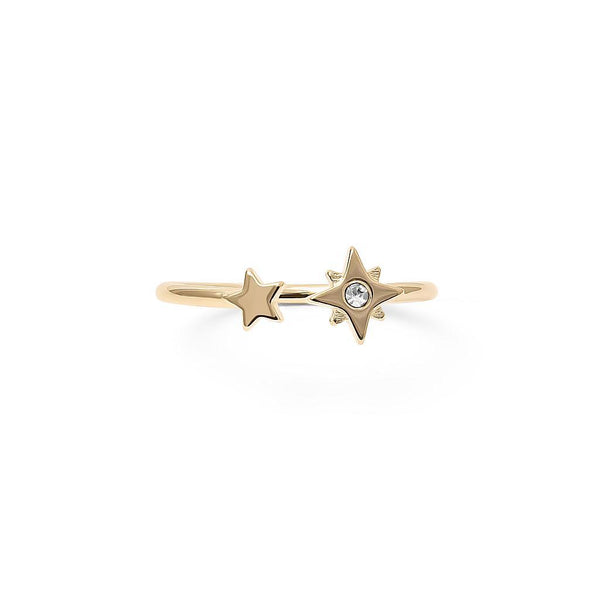 Make a Wish Starry Ring Nr.3 Jewelry luisa-lion 925 Silver Gold Plated XS - 49 (15.6mm)
