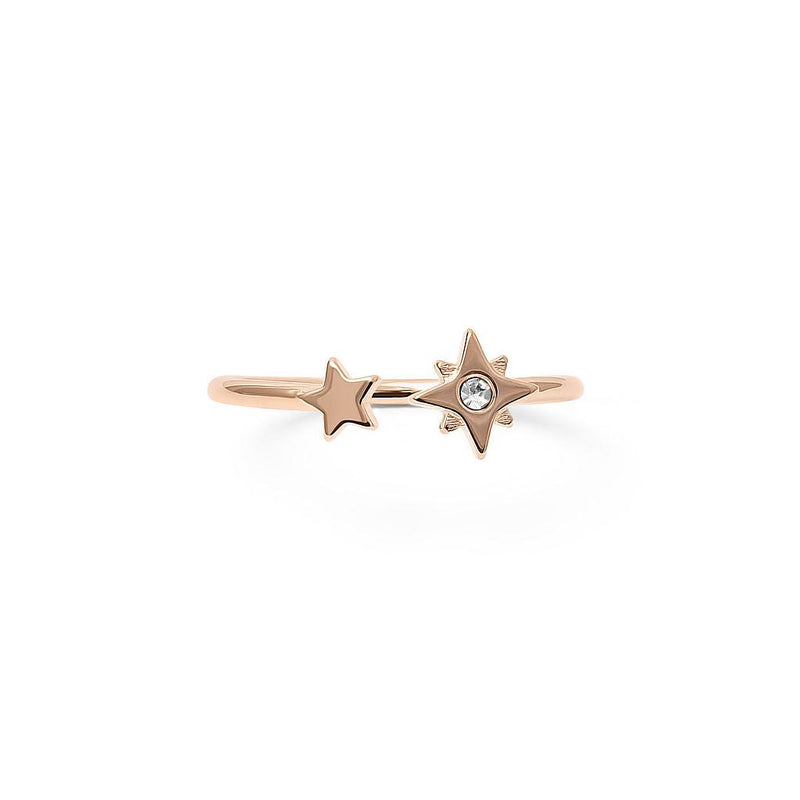 Make a Wish Starry Ring Nr.3 Jewelry luisa-lion 925 Silver Rose Gold Plated S - 52 (16.6mm)