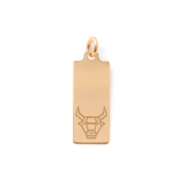 Make a Wish Stier Tag Anhänger Jewelry luisa-lion 925 Silver Gold Plated