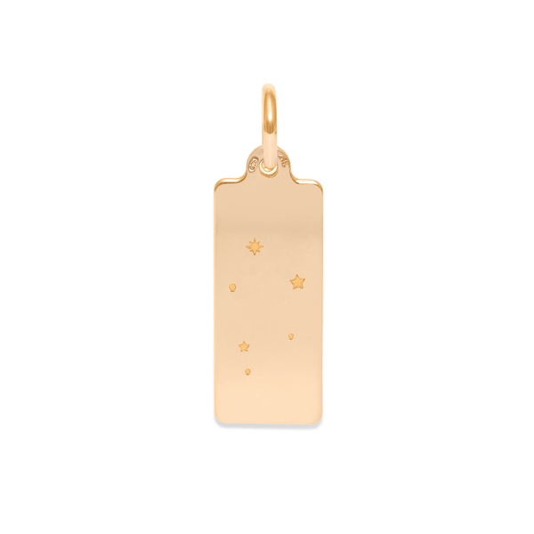 Make A Wish Waage Constellation Tag Anhänger Jewelry luisa-lion 925 Silver Gold Plated