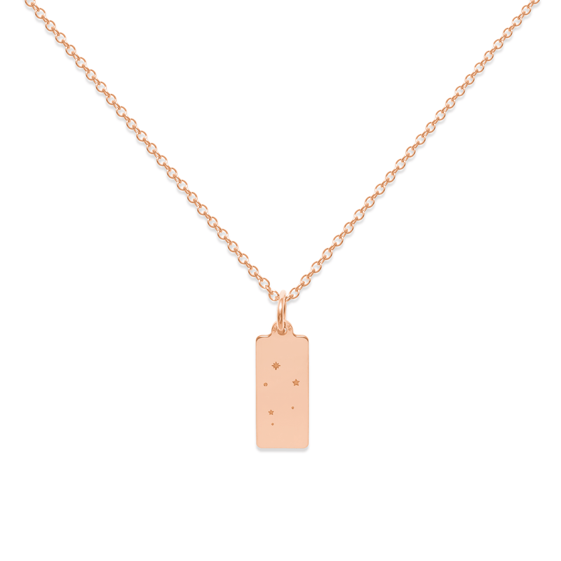 Make A Wish Waage Constellation Tag Kette Jewelry luisa-lion 925 Silver Rose Gold Plated S (45cm)