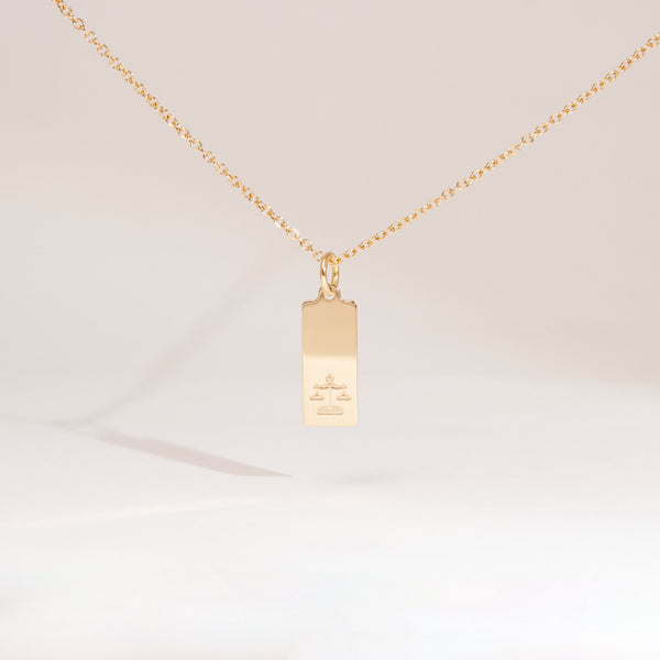 Make a Wish Waage Tag Kette Jewelry luisa-lion