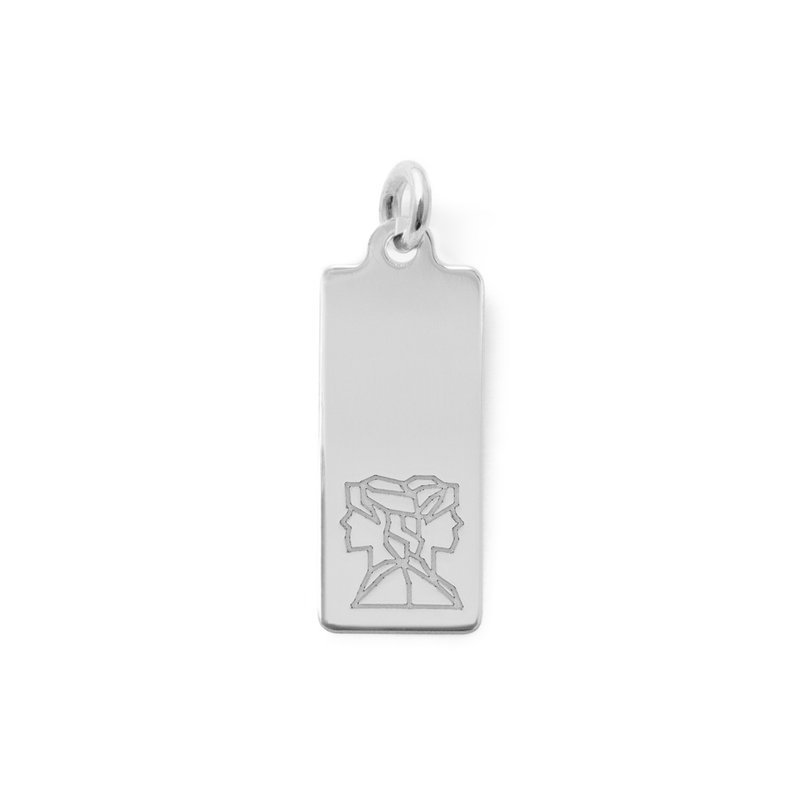 Make a Wish Zwillinge Tag Anhänger Jewelry luisa-lion 925 Silver