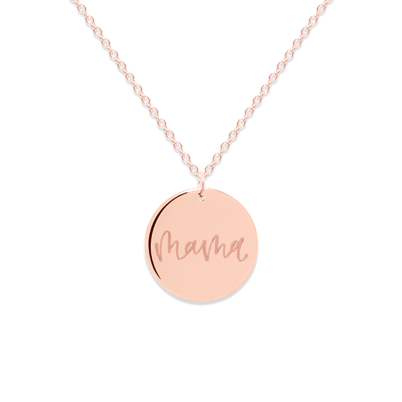 Mama Kette #mommycollection Jewelry frau-hoelle 925 Silver Rose Gold Plated S (45cm)