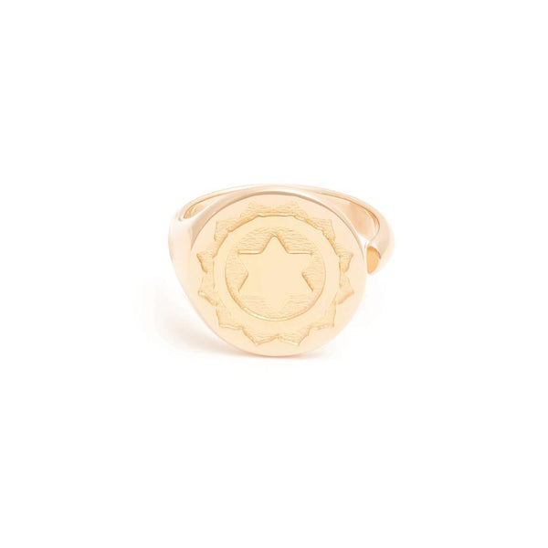 Mantra Ring Jewelry diipa-khosla 925 Silver Gold Plated S - 52 (16.6mm)