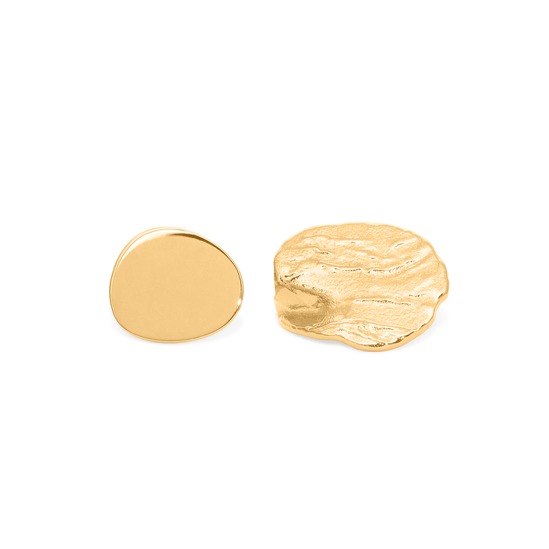 Marea Oval Ohrringe Jewelry delfina 24ct Gold Vermeil