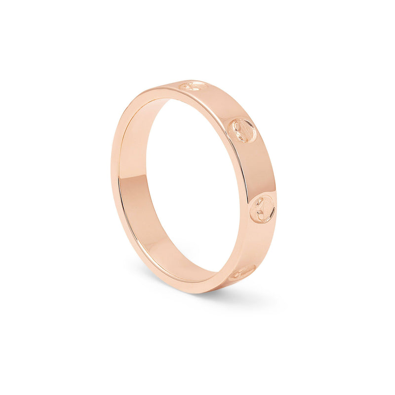 Martian Ring Jewelry talia-mar 925 Silver Rose Gold Plated S - 52 (16.6mm)