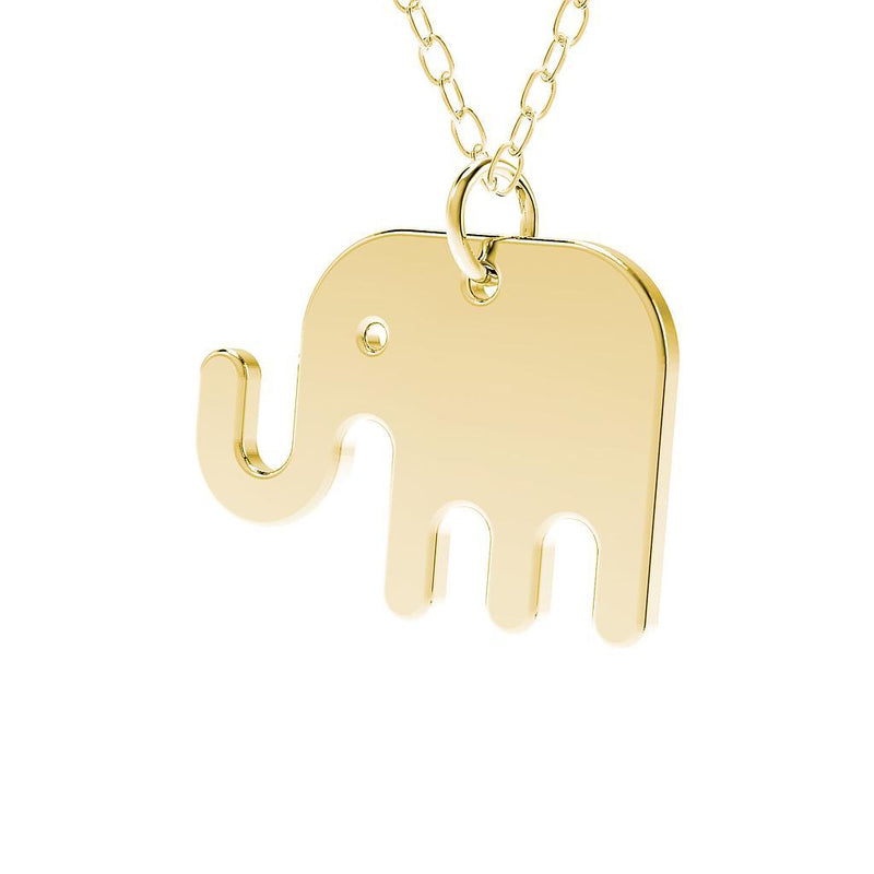 minimals elefant kette (45cm) Jewelry daniel-bennett 925 Silver Gold Plated