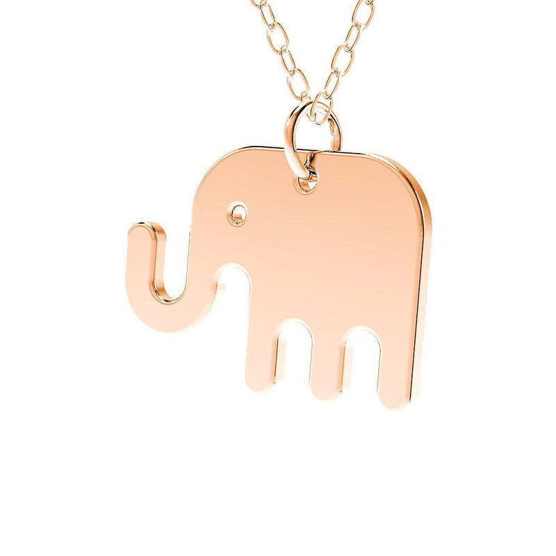 minimals elefant kette (45cm) Jewelry daniel-bennett 925 Silver Rose Gold Plated