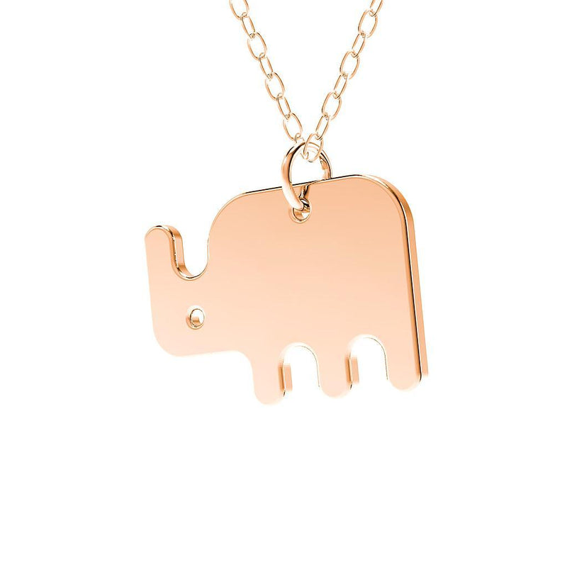 minimals nashorn kette (45cm) Jewelry daniel-bennett 925 Silver Rose Gold Plated