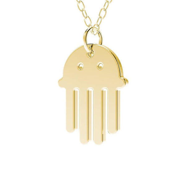 minimals qualle kette (45cm) Jewelry daniel-bennett 925 Silver Gold Plated