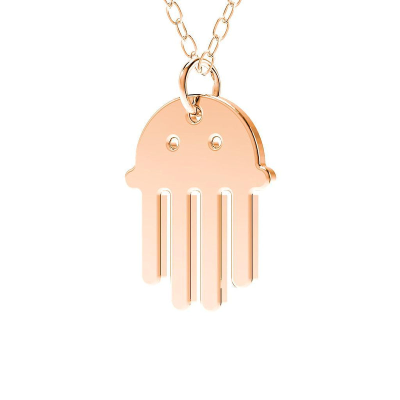minimals qualle kette (45cm) Jewelry daniel-bennett 925 Silver Rose Gold Plated