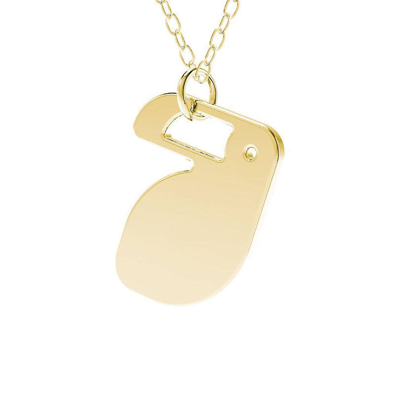 minimals tucan kette (45cm) Jewelry daniel-bennett 925 Silver Gold Plated
