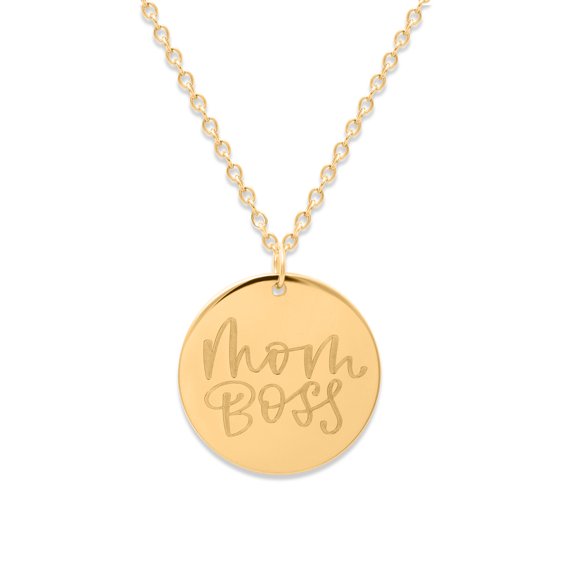Mom Boss Kette #mommycollection Jewelry frau-hoelle 925 Silver Gold Plated S (45cm)