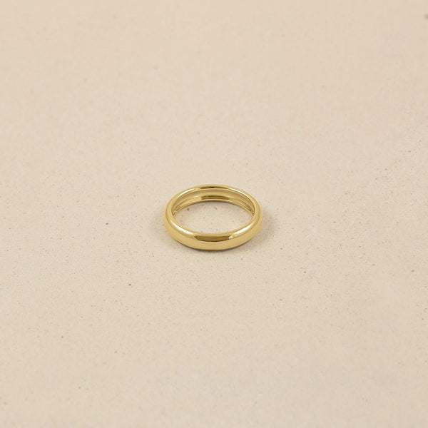 Mom Wedding Band Ring 14k Massivgold Jewelry stilnest