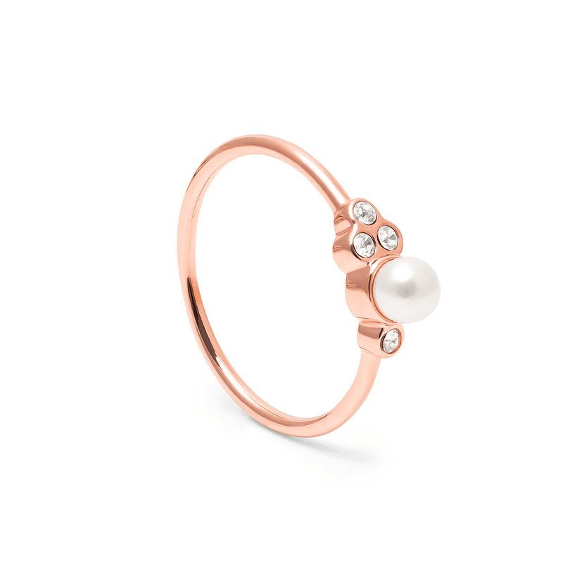 Mother of Pearl Ring Kristall Jewelry anna-frost 925 Silver Rose Gold Plated S - 52 (16.6mm)