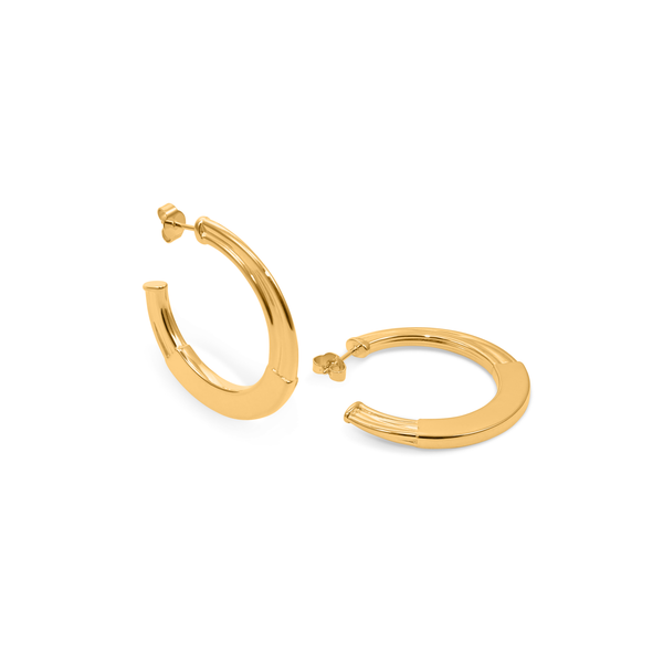 New York Deco Hoops Jewelry sammi-maria 24ct Gold Vermeil