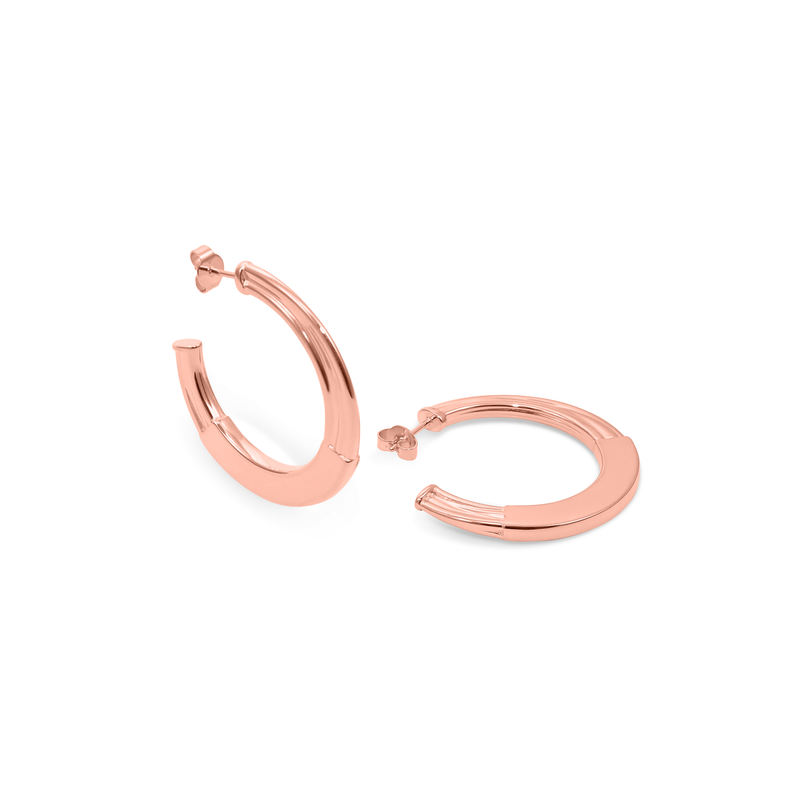 New York Deco Hoops Jewelry sammi-maria Rose Gold Vermeil