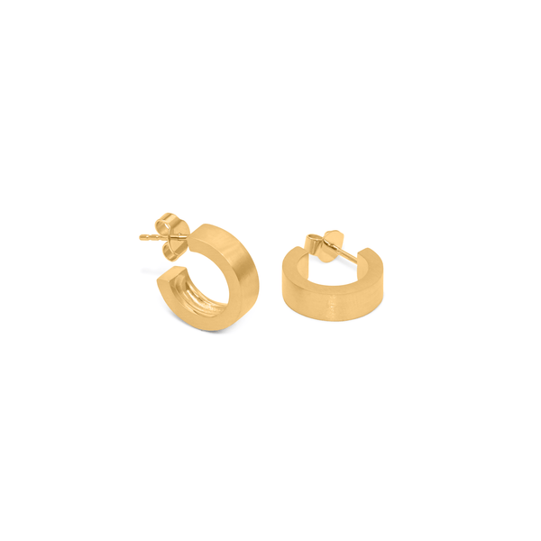 New York Soho Ear Hoops Jewelry sammi-maria 24ct Gold Vermeil