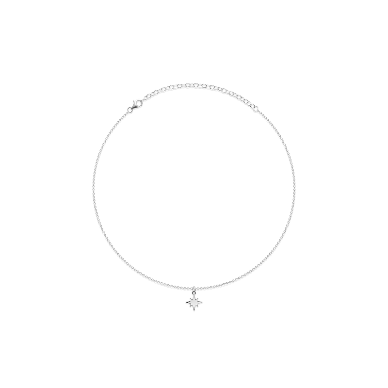 North Star Choker Jewelry taylor-lashae Rhodium Plated 925 Silver
