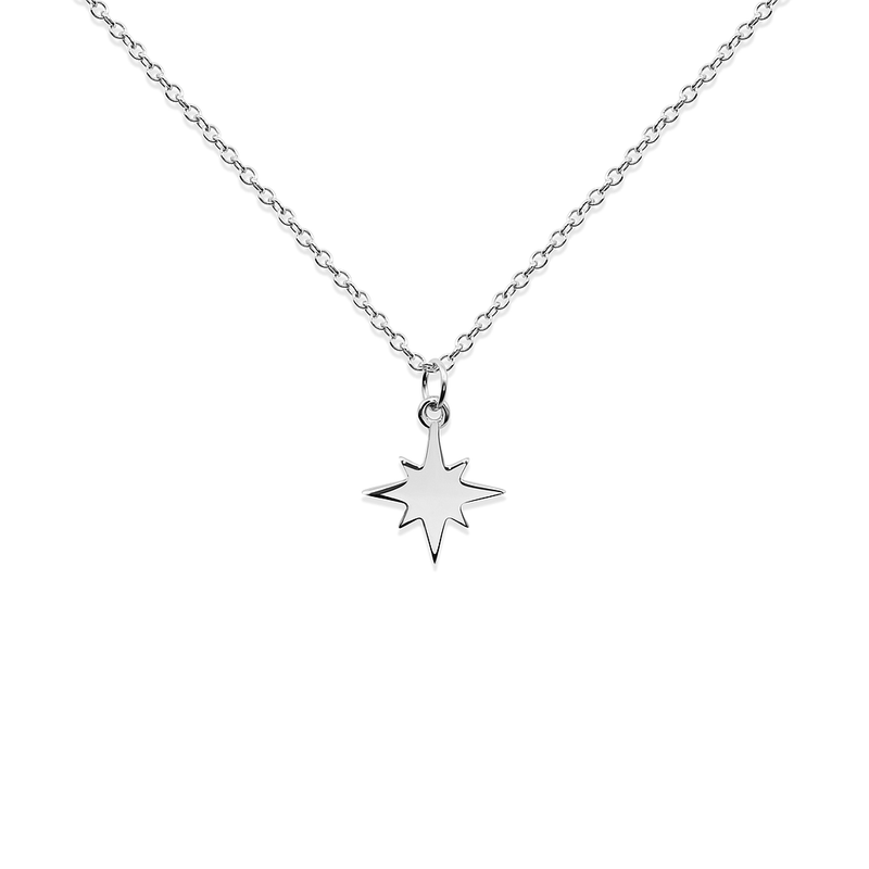 North Star Kette Jewelry taylor-lashae Rhodium Plated 925 Silver S (45cm)