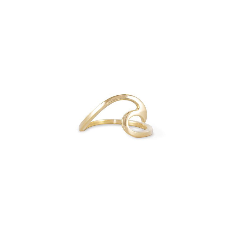 Oceana Wave Ring Jewelry debi-fluegge 925 Silver Gold Plated S - 52 (16.6mm)