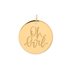 Oh Girl Anhänger #mommycollection Jewelry frau-hoelle 925 Silver Gold Plated
