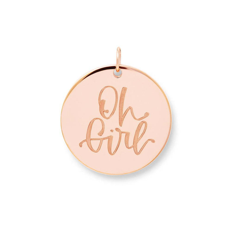 Oh Girl Anhänger #mommycollection Jewelry frau-hoelle 925 Silver Rose Gold Plated