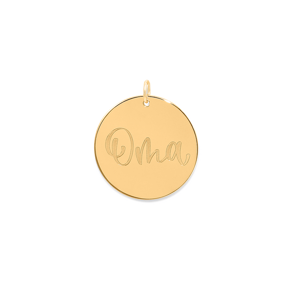 Oma Anhänger #mommycollection Jewelry frau-hoelle 925 Silver Gold Plated