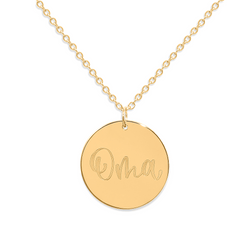 Oma Kette #mommycollection Jewelry frau-hoelle 925 Silver Gold Plated S (45cm)