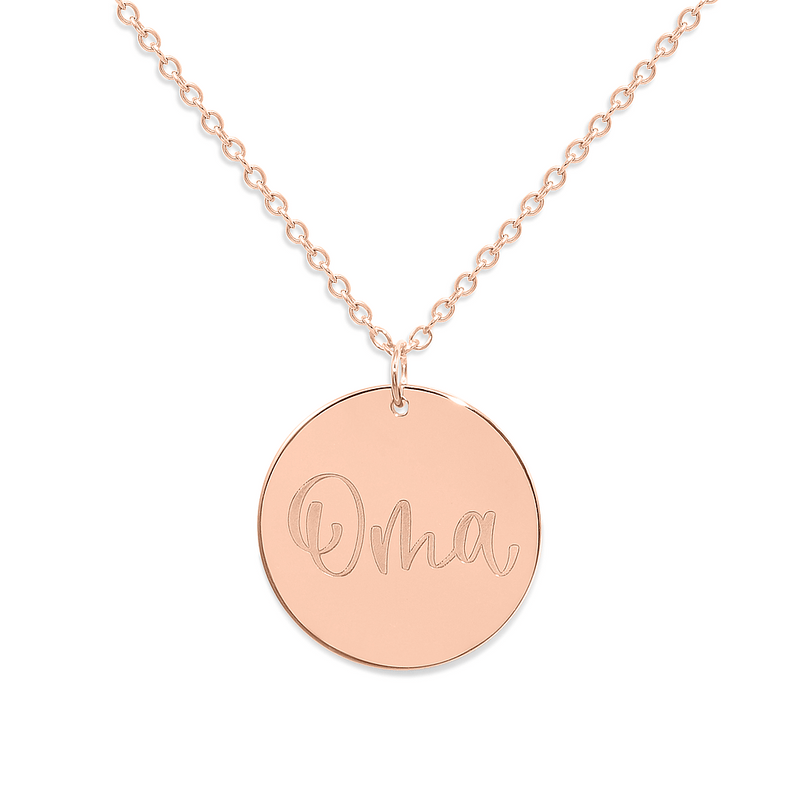 Oma Kette #mommycollection Jewelry frau-hoelle 925 Silver Rose Gold Plated S (45cm)