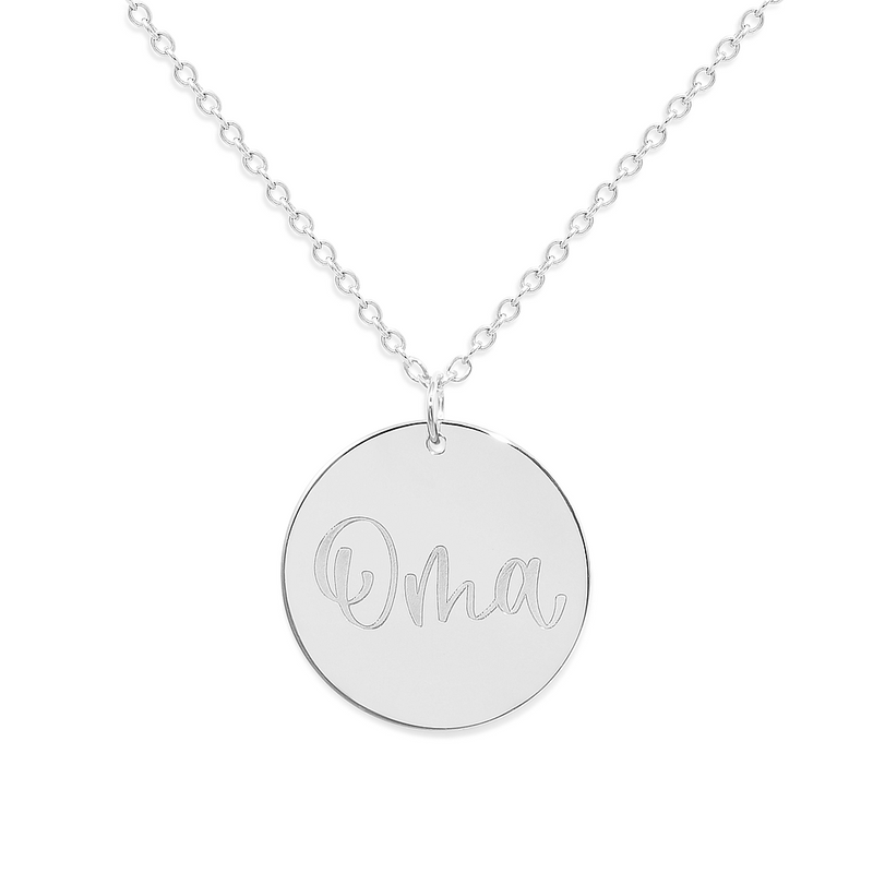 Oma Kette #mommycollection Jewelry frau-hoelle 925 Silver S (45cm)