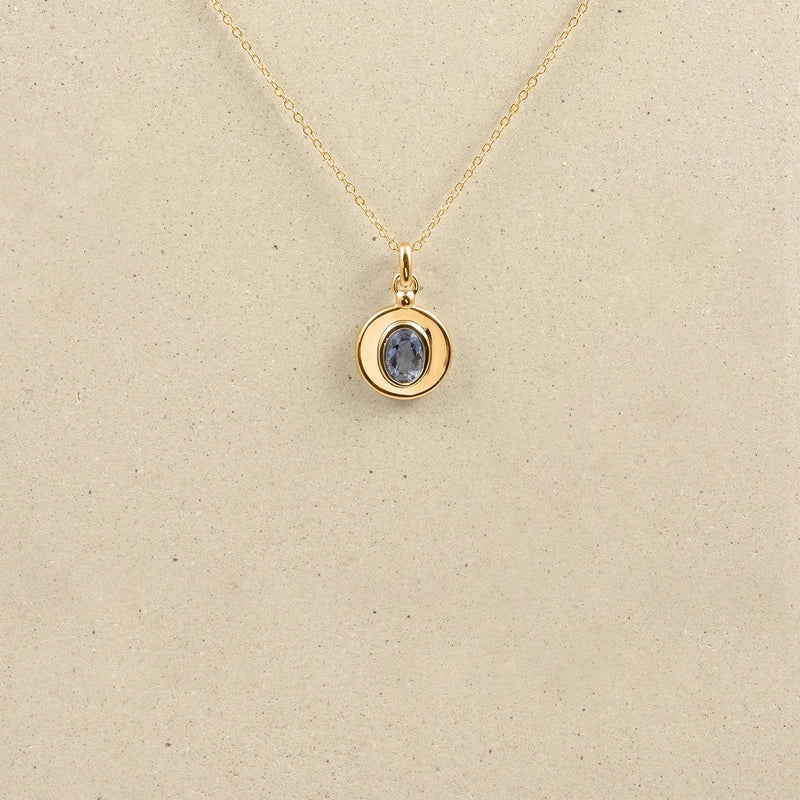One Gem Kette Jewelry stilnest 24ct Gold Vermeil 45cm Iolith
