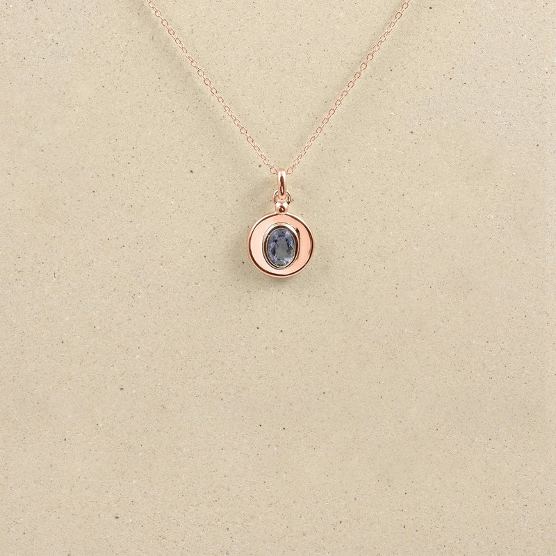 One Gem Kette Jewelry stilnest Rose Gold Vermeil 45cm Iolith