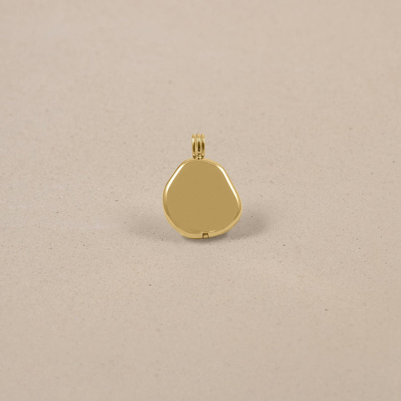 Organic Liquid Locket Anhänger 14k Massivgold Jewelry stilnest